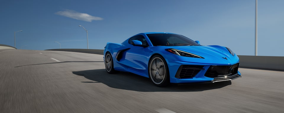Chevy Homepage: <2020 Corvette Stingray Coupe 3LT front 3/4>