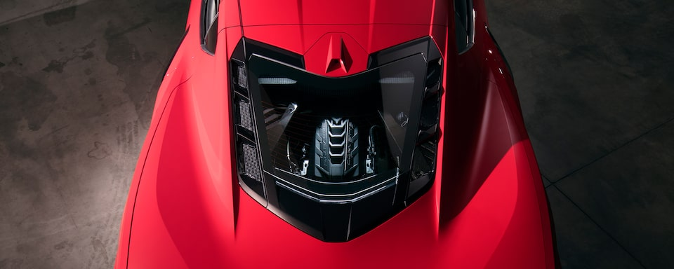 2020 Chevrolet Corvette Mid-Engine Sports Car Aerial View