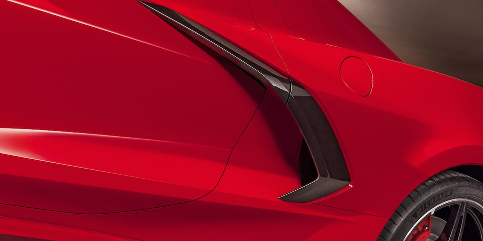 2020 Chevrolet Corvette Mid-Engine Sports Car Side Door Close Up